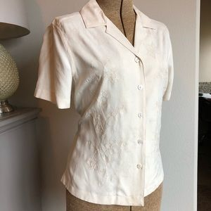 NWOT Silk Blouse by Bobby Chan Size Small